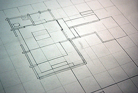 Project 2: Writer's studio scale plan of scheme.