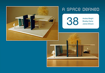 Project 1: A space defined; group 38 brochure cover